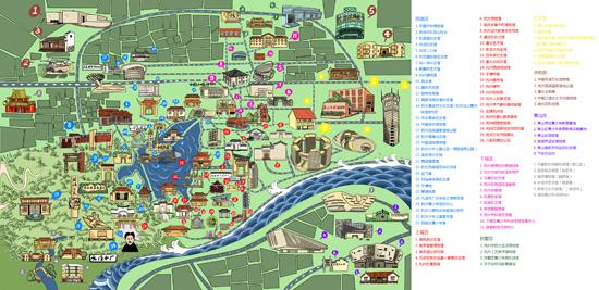堂活动场馆手绘地图